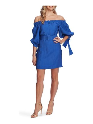 CeCe by Cynthia Steffe off the shoulder balloon sleeve minidress