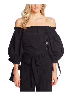 CeCe by Cynthia Steffe off the shoulder balloon sleeve top