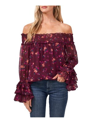 CeCe by Cynthia Steffe off the shoulder floral print top