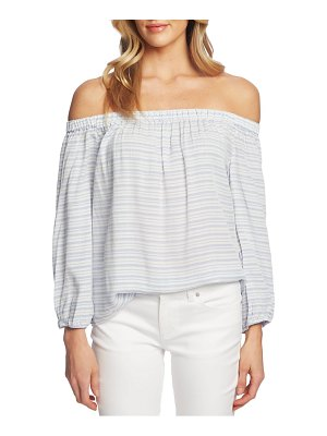 CeCe by Cynthia Steffe off the shoulder jacquard stripe top