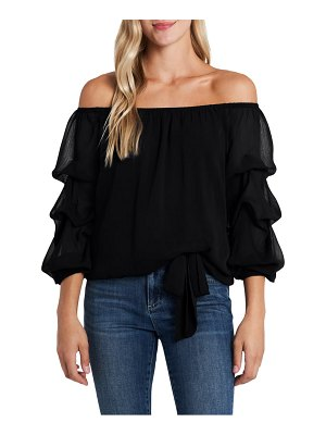 CeCe by Cynthia Steffe off the shoulder tiered sleeve blouse