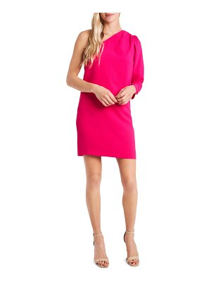 CeCe by Cynthia Steffe one-shoulder moss crepe dress