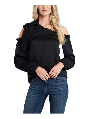 CeCe by Cynthia Steffe one-shoulder ruffle bow blouse