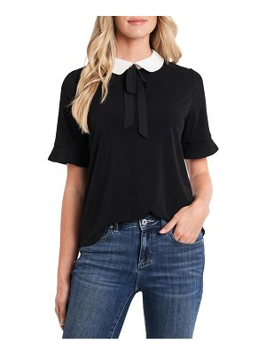 CeCe by Cynthia Steffe peter pan collar mixed media top
