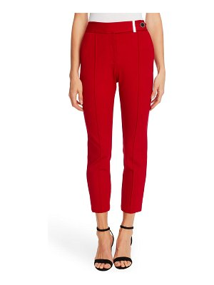 CeCe by Cynthia Steffe pintuck tapered ponte knit pants