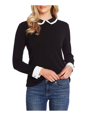 CeCe by Cynthia Steffe pleat collar long sleeve top
