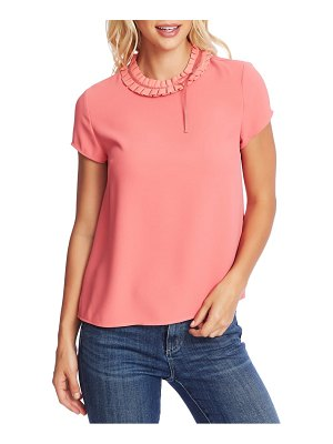 CeCe by Cynthia Steffe pleated collar short sleeve blouse