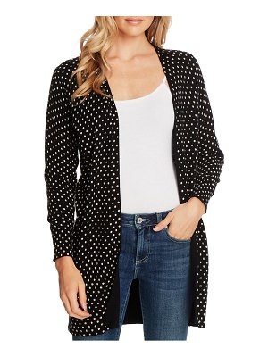 CeCe by Cynthia Steffe polka dot long cardigan