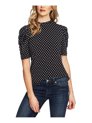 CeCe by Cynthia Steffe polka dot puff sleeve top