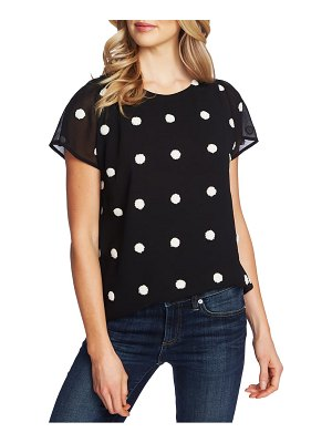 CeCe by Cynthia Steffe polka dot short sleeve top