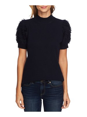 CeCe by Cynthia Steffe poodle sleeve mock neck sweater