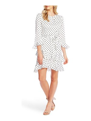 CeCe by Cynthia Steffe pop dot tiered ruffle fit & flare dress