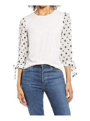 CeCe by Cynthia Steffe puff sleeve knit top