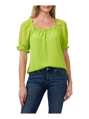 CeCe by Cynthia Steffe puff sleeve square neck blouse