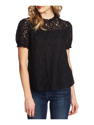 CeCe by Cynthia Steffe puffed sleeve floral lace blouse