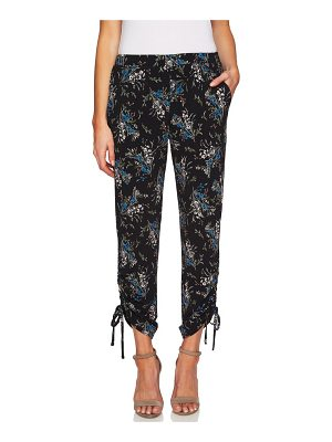 CeCe by Cynthia Steffe ruched dancing bouquets pants