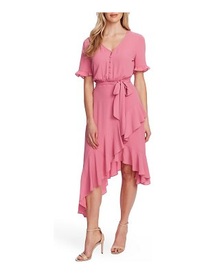 CeCe by Cynthia Steffe ruffle belted high/low dress