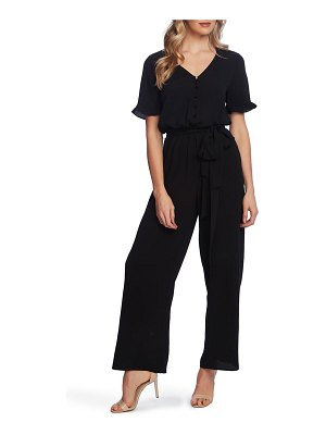 CeCe by Cynthia Steffe ruffle sleeve belted jumpsuit