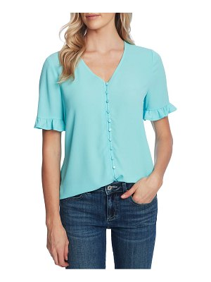CeCe by Cynthia Steffe ruffle sleeve crepe blouse