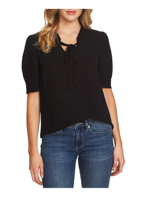 CeCe by Cynthia Steffe ruffle tie neck top