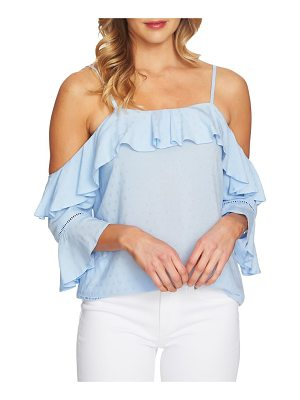 CeCe by Cynthia Steffe ruffled cold shoulder blouse