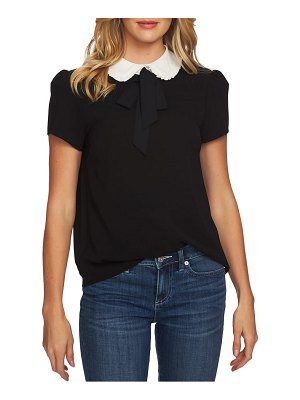 CeCe by Cynthia Steffe ruffled collar tie neck top