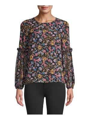 CeCe by Cynthia Steffe Ruffled Floral Top