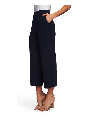 CeCe by Cynthia Steffe scallop pocket detail wide leg crepe pants