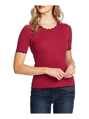 CeCe by Cynthia Steffe scallop ribbed sweater
