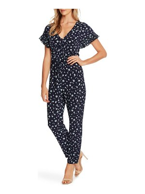 CeCe by Cynthia Steffe scattered floral v-neck jumpsuit