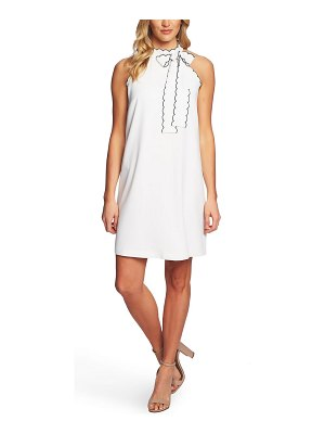 CeCe by Cynthia Steffe sleeveless tie neck shift dress