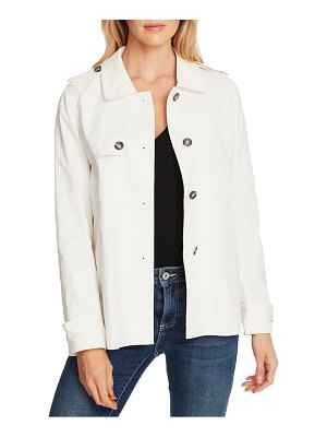 CeCe by Cynthia Steffe stretch cotton twill trench jacket