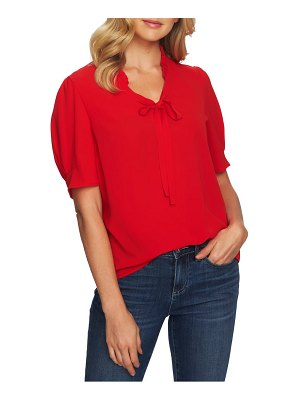 CeCe by Cynthia Steffe tie neck puff sleeve blouse