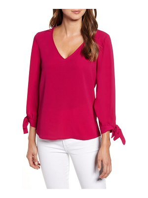 CeCe by Cynthia Steffe tie sleeve top