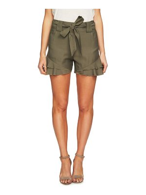CeCe by Cynthia Steffe tiered ruffle belted shorts