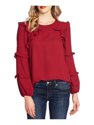 CeCe by Cynthia Steffe tiered ruffle blouse