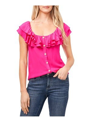 CeCe by Cynthia Steffe tiered ruffle sleeveless blouse
