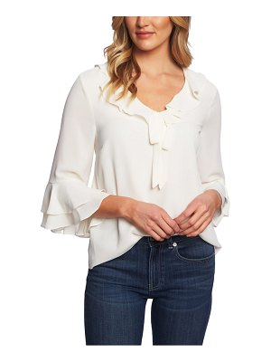 CeCe by Cynthia Steffe tiered sleeve ruffle blouse