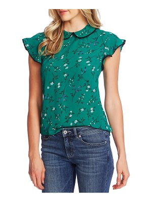 CeCe by Cynthia Steffe tossed floral flutter sleeve blouse