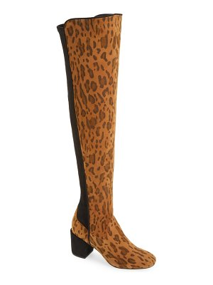 CECELIA NEW YORK cecelia nikita leopard spot over the knee boot