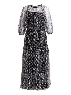 Cecilie Bahnsen Aia puff-sleeve tiered tulle dress