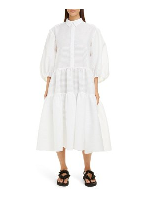 Cecilie Bahnsen amy tiered midi shirtdress