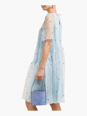 Cecilie Bahnsen annabella floral beaded silk organza dress