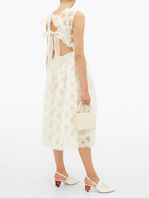 Cecilie Bahnsen aretha floral embroidered organza dress