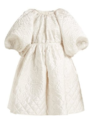 Cecilie Bahnsen Ava Quilted Silk Mini Dress