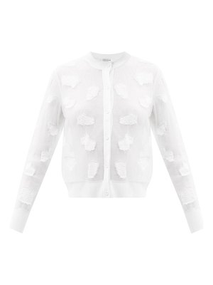 Cecilie Bahnsen daisey embroidered-patch tulle cardigan