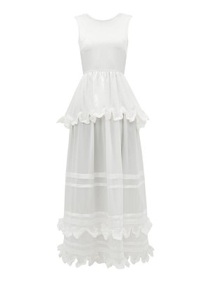 Cecilie Bahnsen echo tiered silk-charmeuse gown