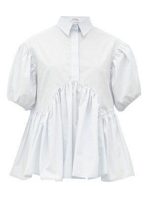 Cecilie Bahnsen ellie gathered cotton-poplin shirt