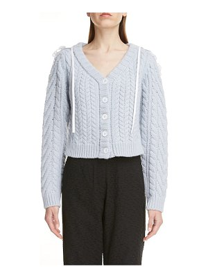 Cecilie Bahnsen embroidered cape cable cardigan