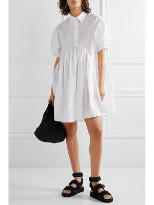 Cecilie Bahnsen esther gathered cotton-poplin mini dress